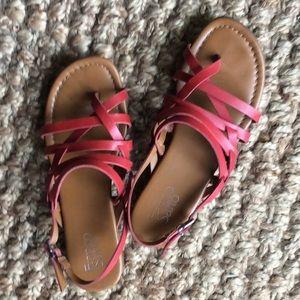 Franco Sarto Red Leather Sandal